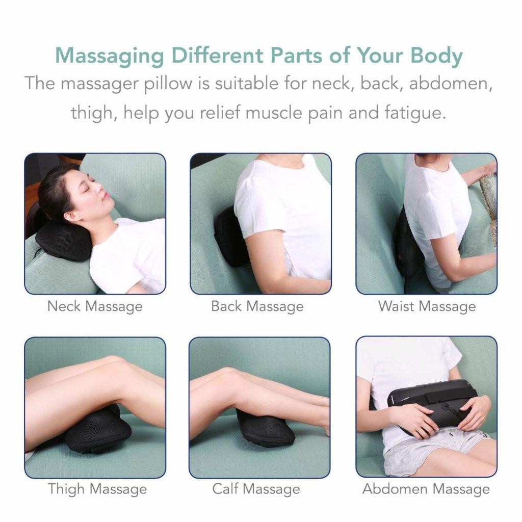 Masajea diferentes partes de tu cuerpo.